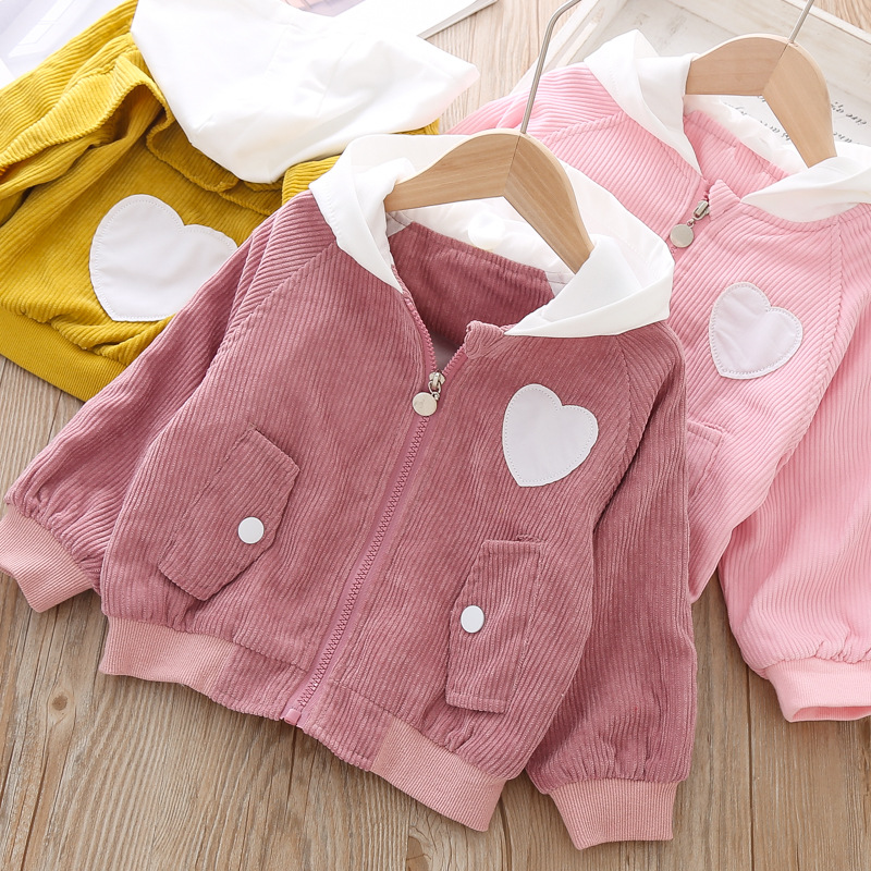New Baby Jacket Fashion Korean Hoodies Bebe Girls Boys Outerwear Children Coat Kids Spring Jackets for Girl 1 year Xmas Clothes