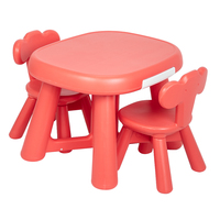 Children Furniture Sets Plastic Table and 2 Chair Set for Kids Children Chairs and Children table Study Desk US stock