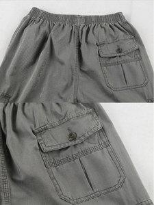 Image 5 - Men Cargo Pants Man Overall Loose Working Trousers Military Army Green Plus Size 4XL 5XL 6XL Workman Khaki Long Baggy Pants