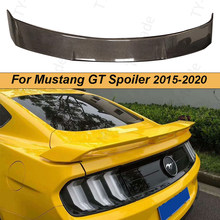 Car styling Carbon Fiber/ABS Glossy Black Rear Trunk Spoiler Boot Lip Wing For Ford Mustang Coupe GT350 Spoiler 2015 - 2020 2021
