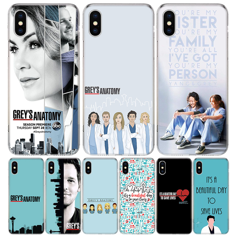 Greys Anatomy Cover Phone Case For iPhone 11 12 Mini Pro 7 6 X 8 6S Plus XS MAX XR 5S SE 10 Ten Art TPU Coque Capa Shell