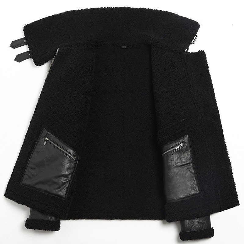 100% echtem leder männer mantel lammfell wahre schaffell männer jacke echt schafe pelzmantel für männer hohe qualität mode mantel winter