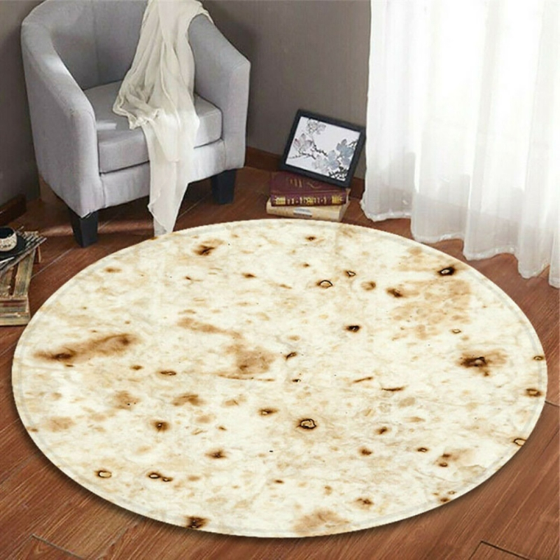 Funny Blanket Mexican Pancake Tortilla Blanket Soft Comfortable Beach Blanket For Adults/Kids image