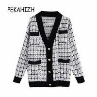 long sleeve plaid jacket womens Vintage ladies tops korean embroidery Sweater coat boho clothing womens jackets and coats 2019