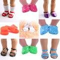 15 Милая сандалия 7-8 см, обувь Длина в кукольном стиле для 18 дюймов американская кукла & 43 см для ухода за ребенком для мам, гиперреалистичный П...
