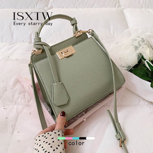 ISXTW New Small Bag Female 2019 Autumn New Wave Point Platinum Bag Wild Single Shoulder Diagonal Bag Fashion Simple Handbag / D8 bag female 2018 new designer custom simple wild spring fight color mosaic shoulder diagonal bag handbag tide
