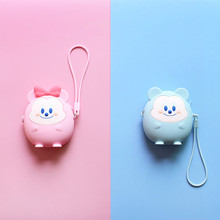 Soft Silicone Coin Purse Cartoon Anime Wallet Women Chain Handbags Girls Zipper Money Pouch Kawaii Credit Card Bags With Strap