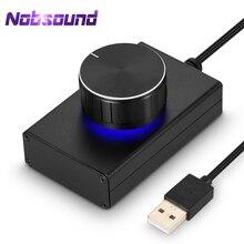 Nobsound – Mini haut parleur dordinateur, contrôleur de Volume USB, sans perte, ajusteur Audio pour lecteur multimédia, bouton VOL/interrupteur avec une touche muet