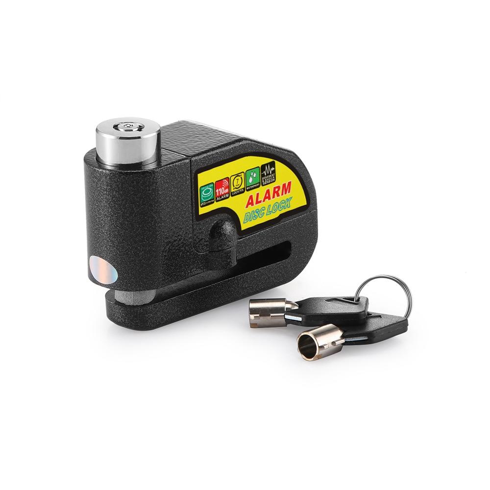100DB Motorcycle Alarm Lock Motorbike Anti-theft Alarm Wheel Disc Brake Security Safety Siren Lock Motorcycle Disk Brake Lock
