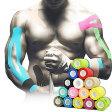 18 cores colorido atlético envoltório fita auto adesivo elástico bandagem elastoplast esportes protetor joelho dedo tornozelo palma ombro