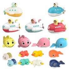 Baby Bath Toys Clockwork Dabbling Children Toys Cartoon Swim Duck Kids Shower Water Toy For Bathroom Bathtub Beach Swimming Pool