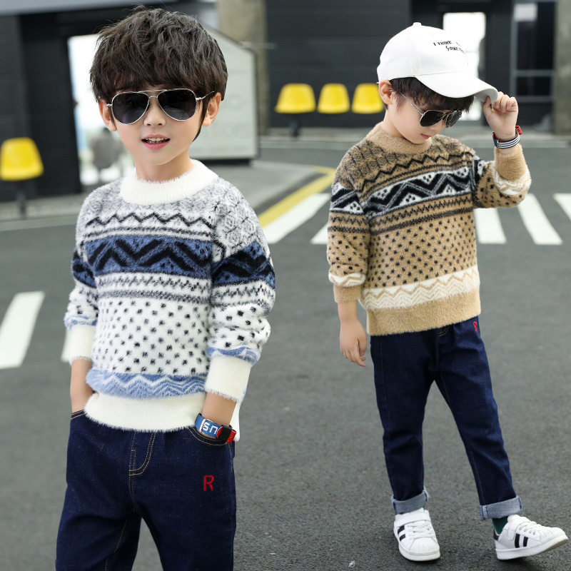 2019 Fashion Knitted Kids Sweaters Boy Boys Pullover Sweater Child for 4-11 Years Cashmere Knitwear
