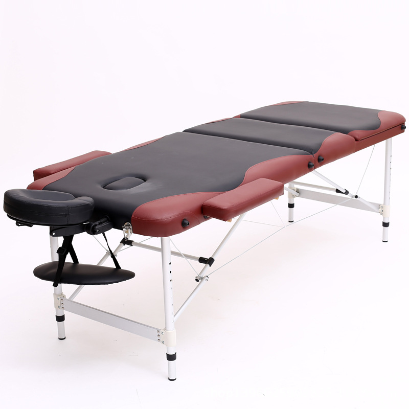 Aluminum Alloy Foot Thick Folding Massage Bed Beauty Bed Massage Tattoo Bed Shampoo Bed Send Oxford Bag