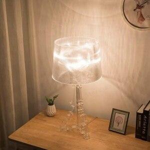 Image 3 - Moderne Ghost Shadow Helder Transparant Acryl Tafel Lampen Slaapkamer Bed Studie Acryl Bureau Lampen Eenvoudige Licht