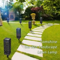 IP65 Outdoor Solar Powered lampe LEDs Rasen Lampe Hohl Muster Sensor Dekorative Landschaft Licht für Garten Hof Patio Hof