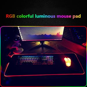 Image 4 - RGB Gaming Mouse Pad Large Mouse Pad Gamer Led Computer Mousepad Big Mouse Mat with Backlight Carpet for Keyboard Desk Rubber