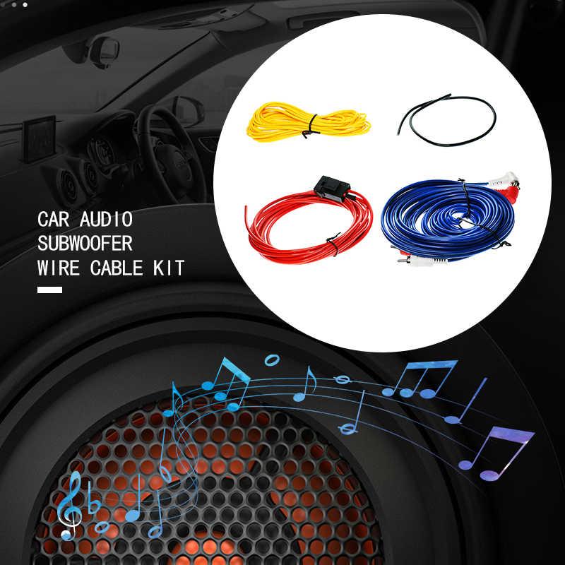 1 комплект автомобильный аудио динамик s комплекты проводов кабель усилитель сабвуферный динамик установочный комплект проводов 10GA кабель питания 4 м 45 ядер