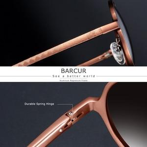 Image 5 - BARCUR עגול שמש משקפיים גברים נשי אלומיניום מגנזיום משקפי שמש גברים משקפי שמש מקטב oculos דה סול