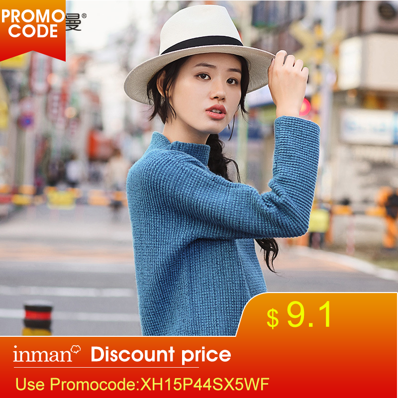 INMAN New Products Winter High Collar Long Sleeves Loose Pullovers Sweater
