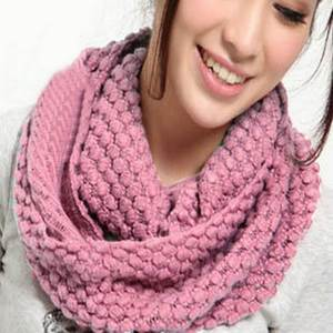 Warm Scarves Ring Wraps Corn-Yarn Collar Winter Multi-Color Korean-Style Women New-Fashion