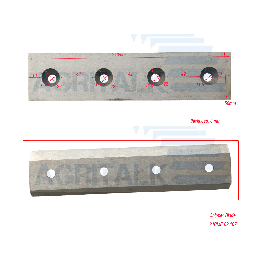 Rotating Wood Chipper Blades For Most Of Chinese Brands Wood Chipper, Part Number: 24PMF.02.107
