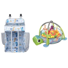 Crib Organizer Baby Bed Hanging Bag White & 3 in 1 Mat for Children Lion Educational Mat Blanket Infant Play Rug