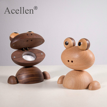 Home-Decor-Accessories Frog Animal-Figurines Wooden Modern Design Wedding-Gifts Orn Natural