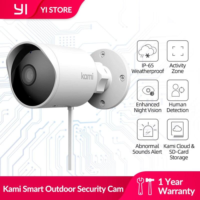Умная наружная камера видеонаблюдения Kami 1080p 2,4G, водонепроницаемая IP-камера с обнаружением человека для дома/офиса, Starlight, ночного видения