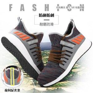 Image 5 - Iş ayakkabısı çelik ayak ile Mens yıkılmaz botları hafif nefes delinme geçirmez koruyucu ayakkabı yumuşak hafif