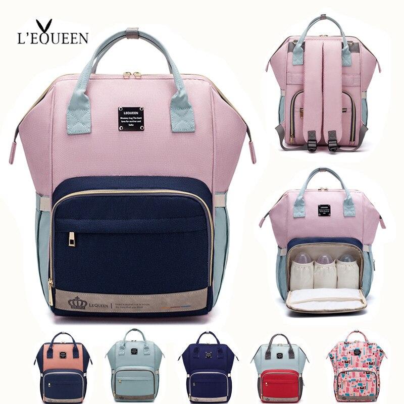 LEQUEEN-sac à couches pour bébé | Grand sac de maternité, sac de rangement de voyage étanche anti-salissure, sac de poussette, sac à couches