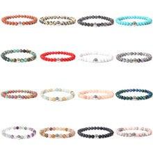 6 mm Natural Chakra Stone Beads Bracelets For Women Handmade Elastic Bracelet Men Black Turquois Lucky Energy Charm Jewelry