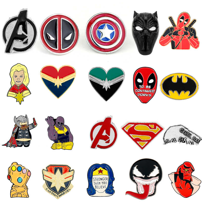 Dongsheng Sieraden Avengers Endgame Pins Broches Captain America Deadpool Iron Man Thanos Thor Emaille Badge Revers Pin