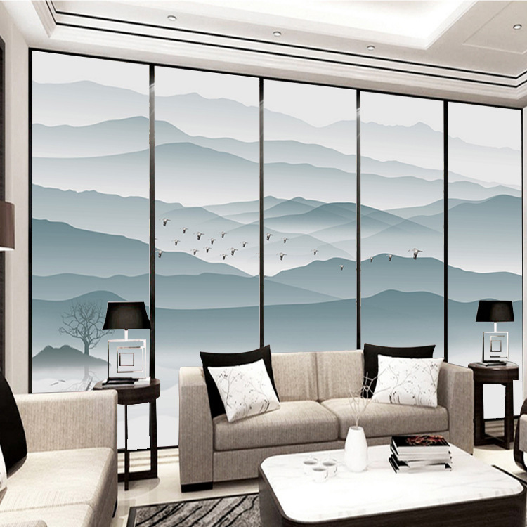 New Chinese Style Abstract Ink Landscape Painting TV Backdrop Artistic Conception Decorative Painting Bedroom Studio Mural Wallp