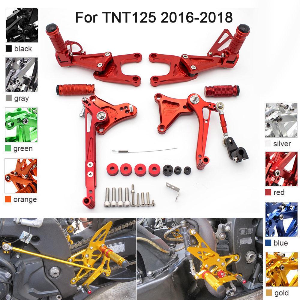 Rearset Rear Sets Footpeg Foot Pedals For Benelli TNT125 TNT135 Black 2016-2018