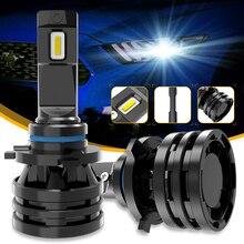 M2 огни автомобиля H7 16000LM H11 светодиодный светодиодные лампы для автомобильных фар H4 H1 H3 H8 H9 9005 9006 HB3 HB4 9012 H13 9007 турбо светодиодный лампы 12V 24V