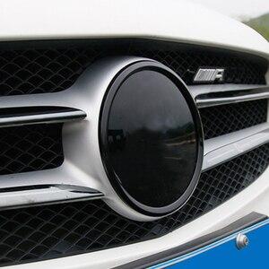 Para Mercedes Benz 2013-2018 A clase w176 GLA X156 CLA X117 parachoques delantero logo parrilla delantera logo trim cover accesorios auto