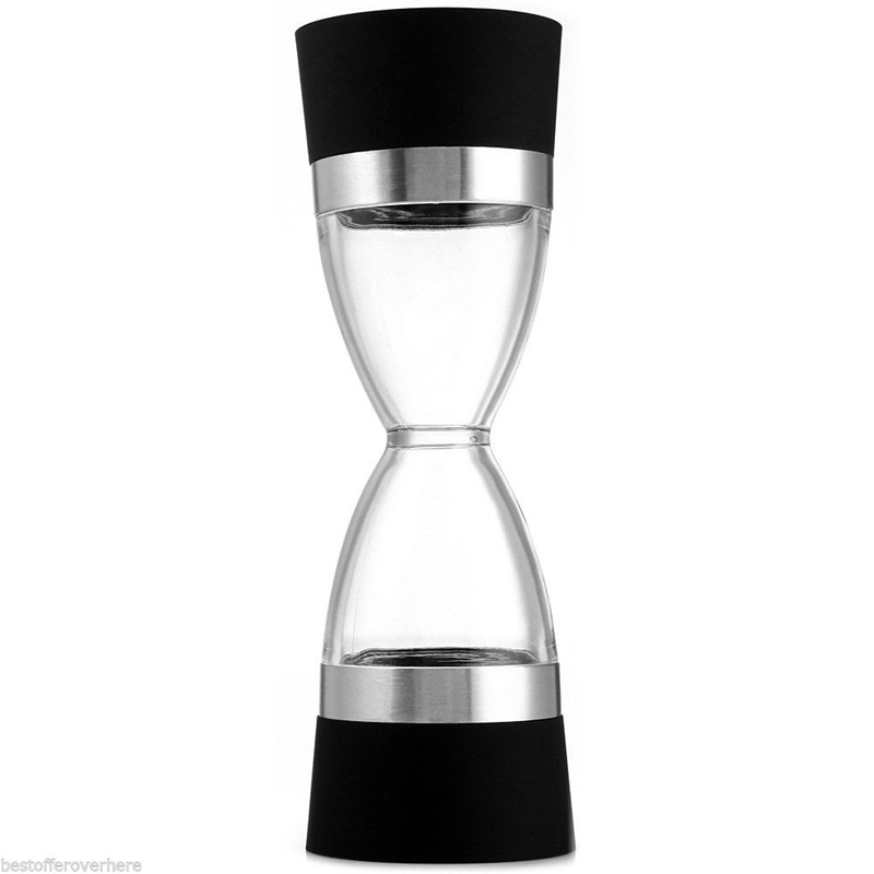 Hourglass Pepper Grinder - Deluxe 2 in 1 Manual Salt and Pepper Mill Shaker(China)