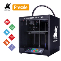 Shipping from Russia 2019 Popular Flyingbear Ghost4S 3d Printer full metal frame diy kit with Color Touchscreen gift SD
