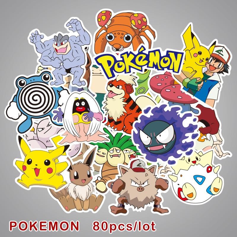 80pcs-set-takara-tomy-font-b-pokemon-b-font-pikachu-cartoon-stickers-skateboard-laptop-luggage-car-sticker-cosplay-prop-accessories