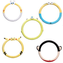 Cartoon Steering Wheel Cover Creative Lovely Car Hand Cover Winter Plush Steering Wheel Cover Antifreeze Warmth donyummyjo creative cute cartoon car steering wheel cover winter plush back cat women girls wheel covers car styling decorations