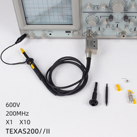 TEXAS200-2 오실로스코프 프로브 DC-200MHz x1/x10 프로브 용 스코프 클립 테스트 프로브 오실로스코프 테스트 리드