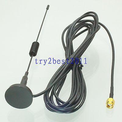 DHL/EMS 20 Sets Antenna GPRS GSM 433MHZ 3dBi RP-SMA Jack Pin Magnetic Base For Ham Radio -C1