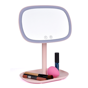 10X Magnifying Makeup Mirror With LED Light Cosmetic Mirrors Desktop Vanity Mirror Double Sided Backlit Mirrors
