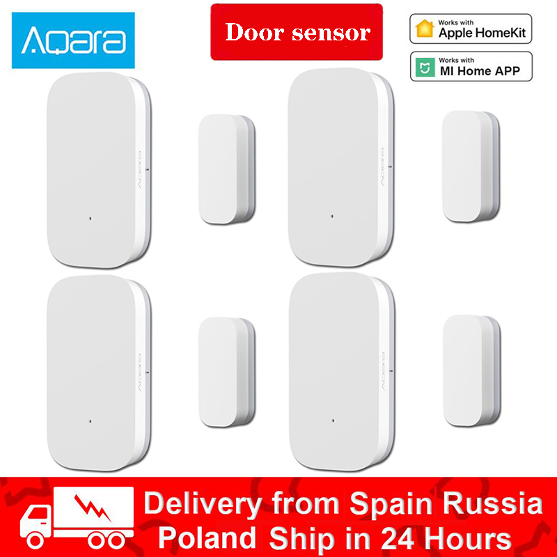 Aqara Door Window Sensor Zigbee Wireless Connection Smart Remote Control Work With App Mini Door  MiHome And App Apple Home Kit