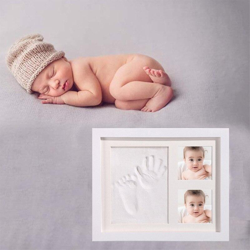para bebês recém-nascidos, decoração de casa com estampa de mão, argila macia