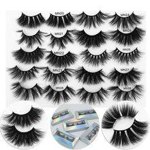 25mm 27mm Mink Lashes 3D Mink Eyelashes 100% Cruelty free Lashes Handmade Reusable Natural Eyelashes Popular False Lashes Makeup