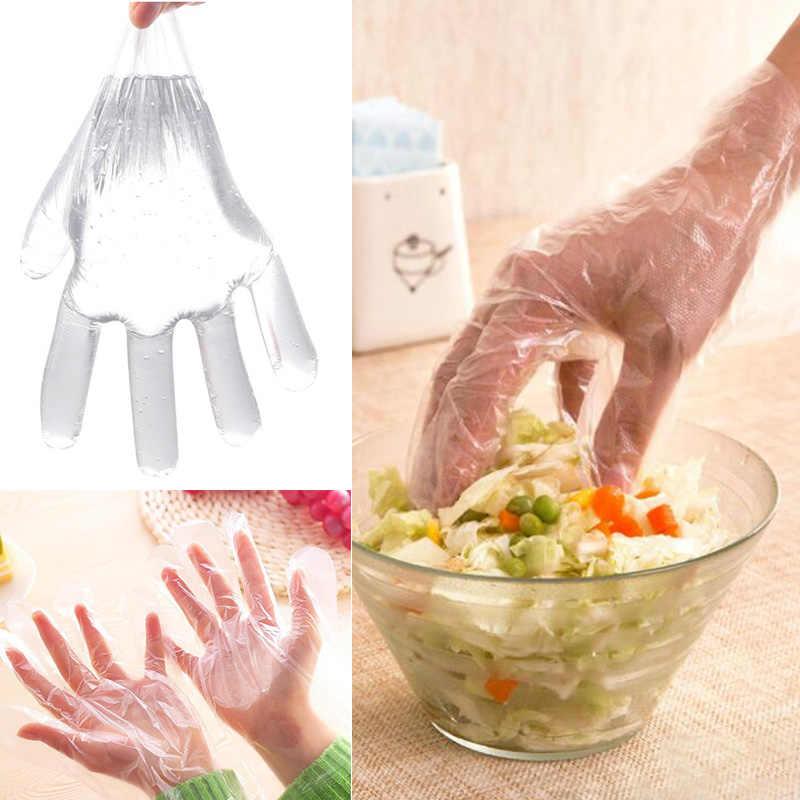 Heren Handschoenen Wegwerp Food Grade 100Pcs Wanten Ski Handschoenen Schoonheid Industriële Reiniging Glover Plastic Restaurant Womens Handschoenen