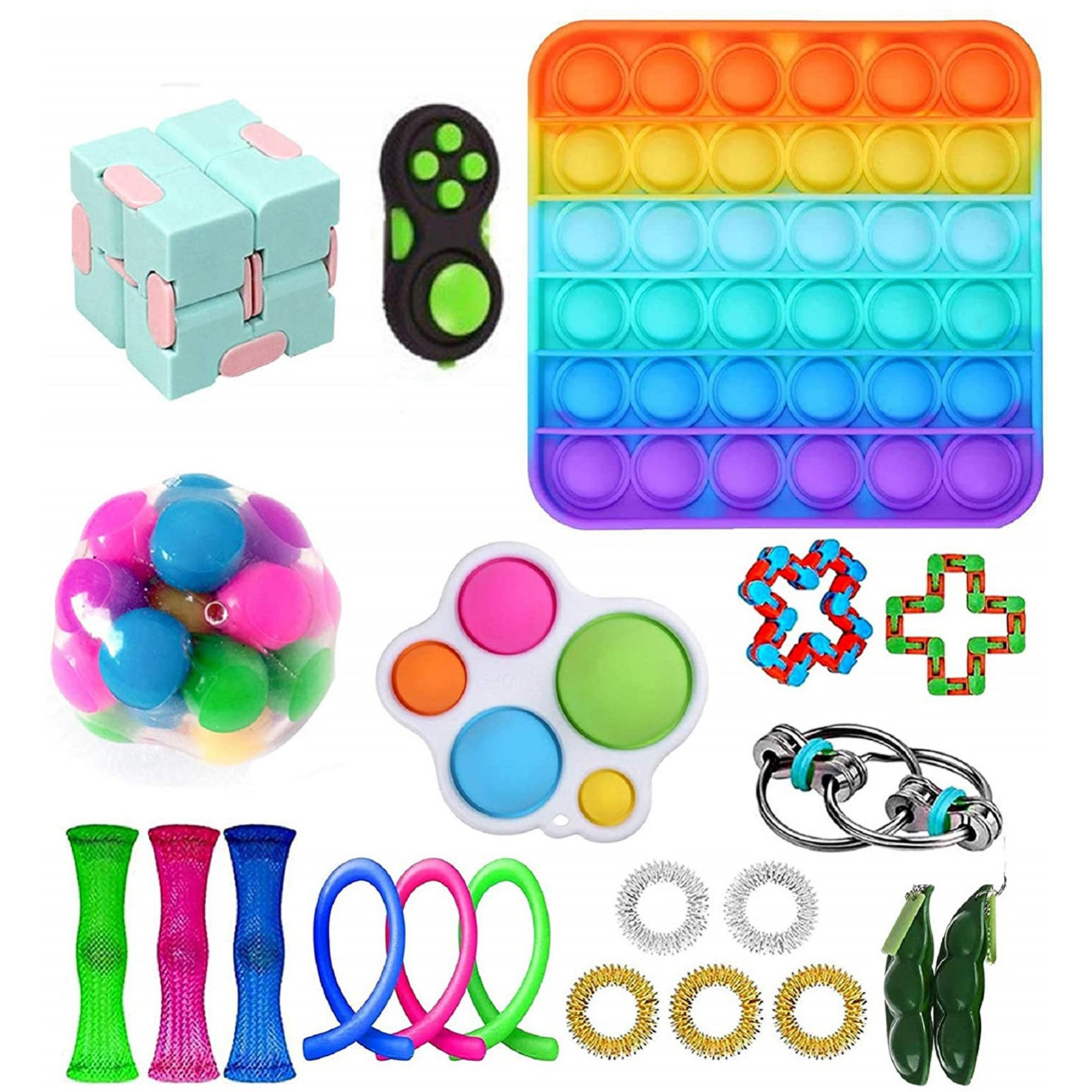 Fidget-Toys Strings Anti-Stress-Set Gift-Pack Relief Sensory Squishy Pop-It Adults Stretchy img3