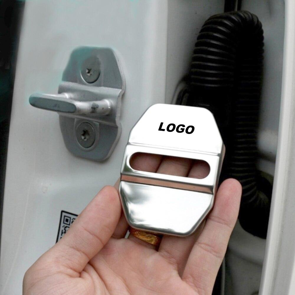 4pcs עבור AMG לוגו רכב דלת מנעול כיסוי תג סמל כובע 3D עבור מרצדס בנץ S C ML SL Class W222 W245 W246 W251 אבזרים