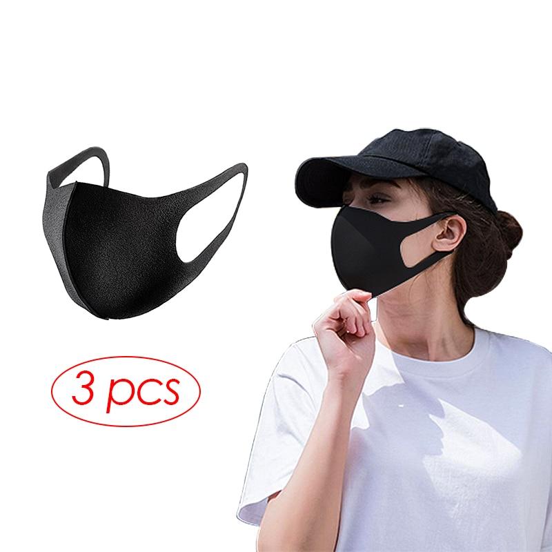 Sponge Face Masks 3PCS Dustproof Smoke Pollution Audlt Mascarillas PM2.5 Washable マスクReusable Alan Walker Mouth Mask